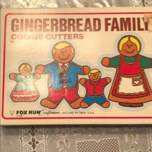 Vintage Fox Run Gingerbread Family Cookie Cutters